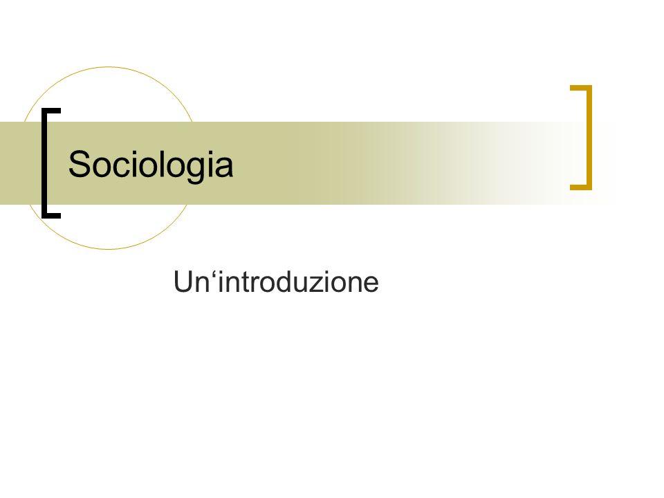 Sociologia Un'introduzione