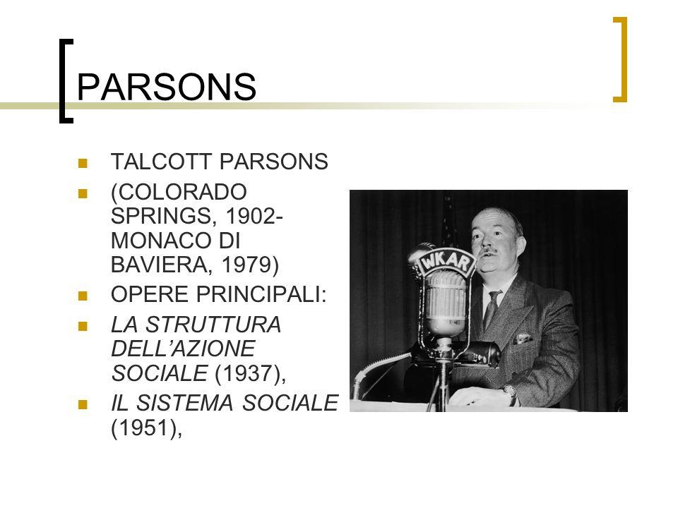 PARSONS TALCOTT PARSONS