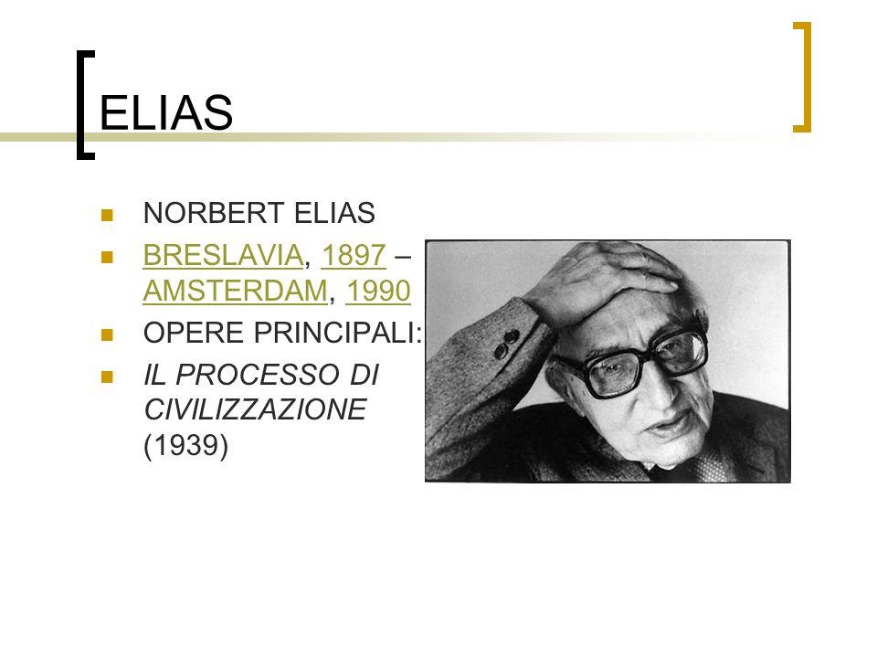 ELIAS NORBERT ELIAS BRESLAVIA, 1897 – AMSTERDAM, 1990