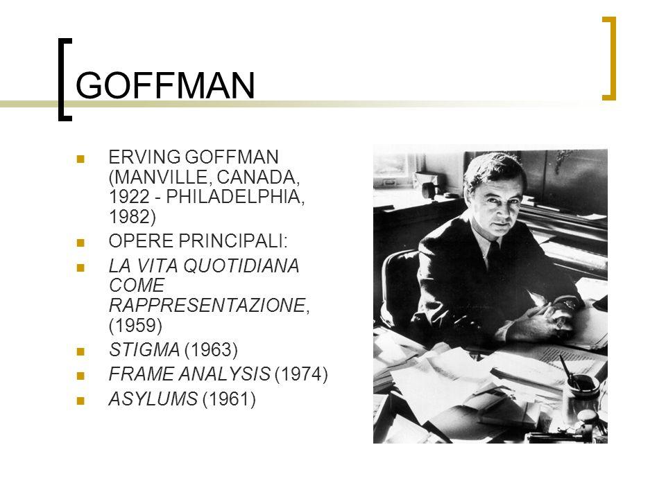 GOFFMAN ERVING GOFFMAN (MANVILLE, CANADA, 1922 - PHILADELPHIA, 1982)