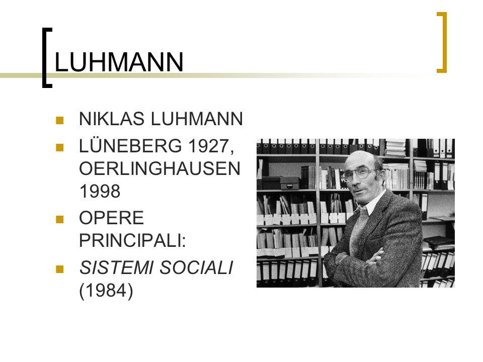 LUHMANN NIKLAS LUHMANN LÜNEBERG 1927, OERLINGHAUSEN 1998