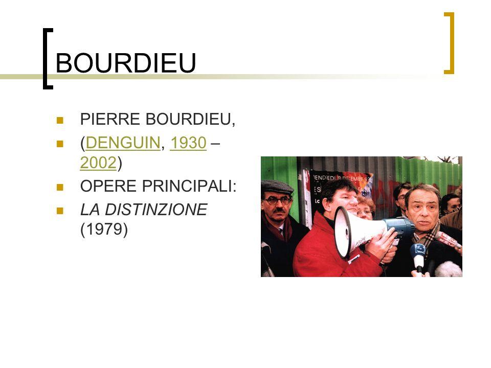BOURDIEU PIERRE BOURDIEU, (DENGUIN, 1930 –2002) OPERE PRINCIPALI: