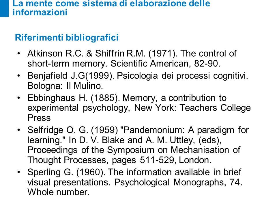 La mente come sistema di elaborazione delle informazioni