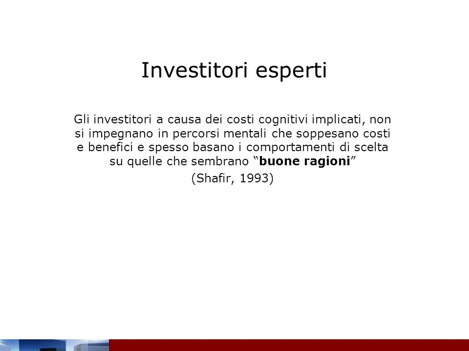 Investitori esperti