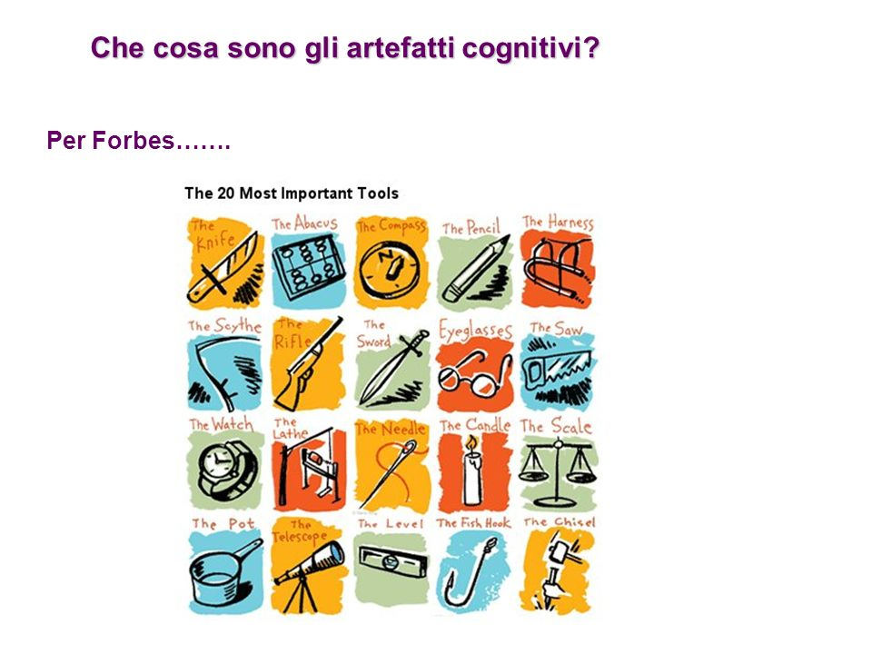 Che cosa sono gli artefatti cognitivi