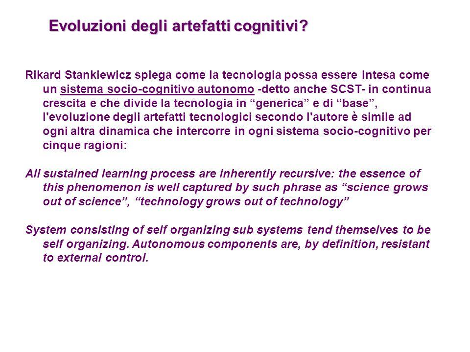 Evoluzioni degli artefatti cognitivi