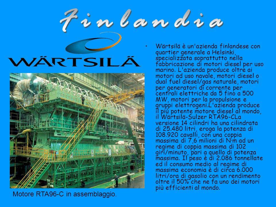 Finlandia Motore RTA96-C in assemblaggio.