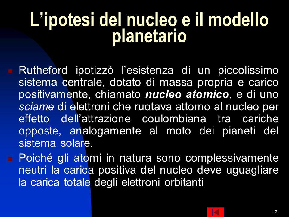 L'ipotesi del nucleo e il modello planetario