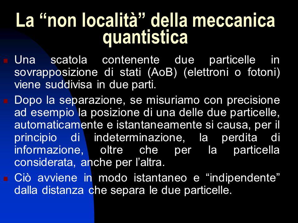 La non località della meccanica quantistica