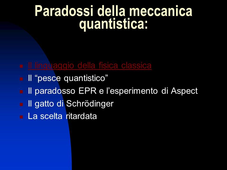 Paradossi della meccanica quantistica: