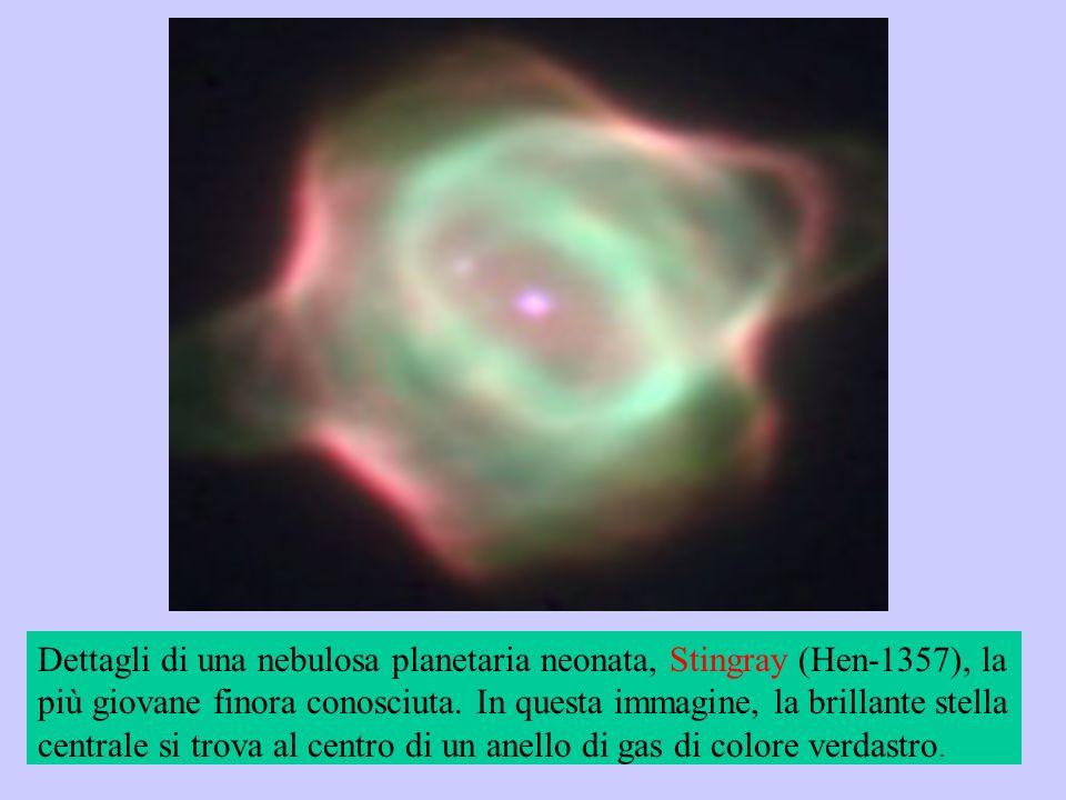 Dettagli di una nebulosa planetaria neonata, Stingray (Hen-1357), la più giovane finora conosciuta.