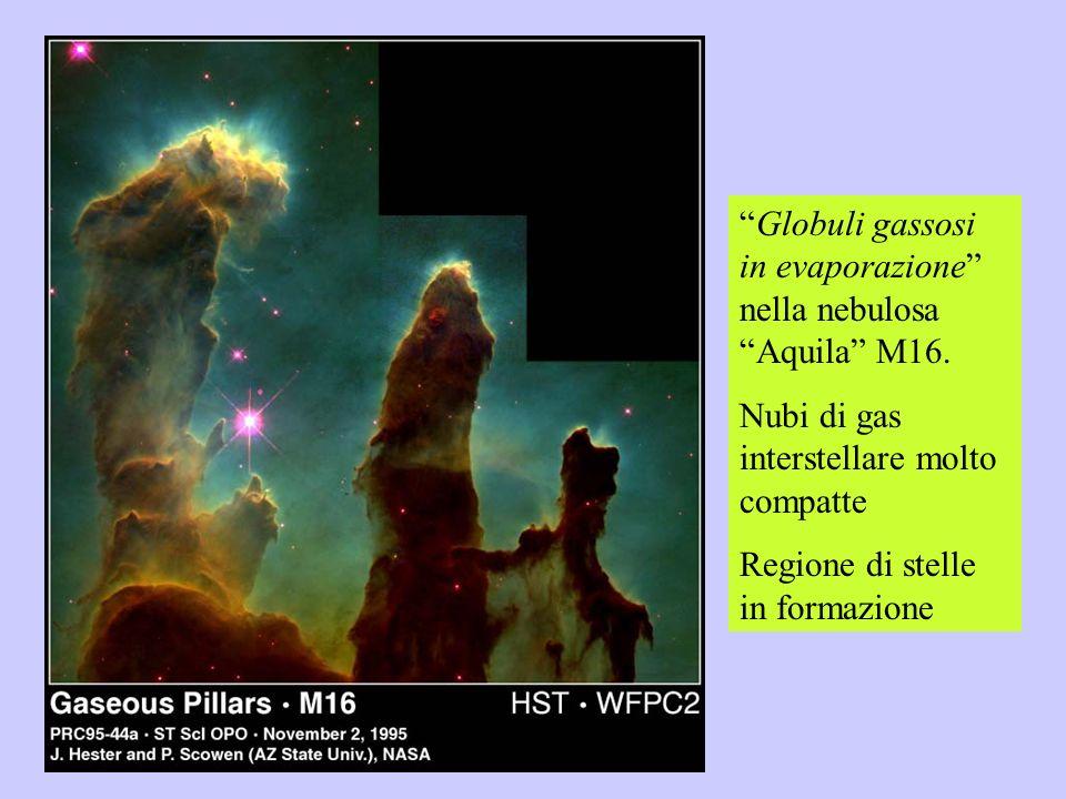 Globuli gassosi in evaporazione nella nebulosa Aquila M16.