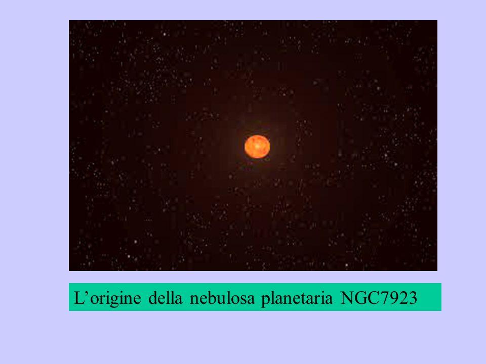 L'origine della nebulosa planetaria NGC7923