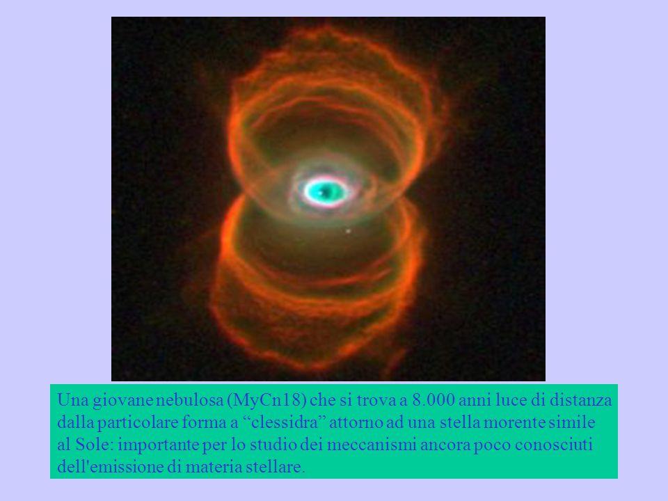 Una giovane nebulosa (MyCn18) che si trova a 8
