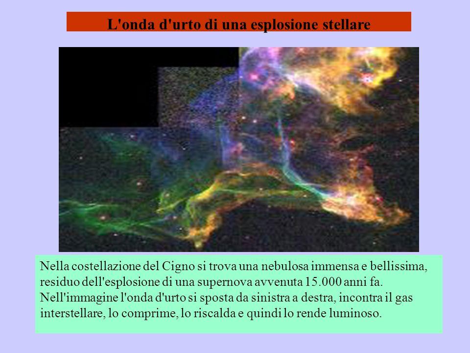 L onda d urto di una esplosione stellare