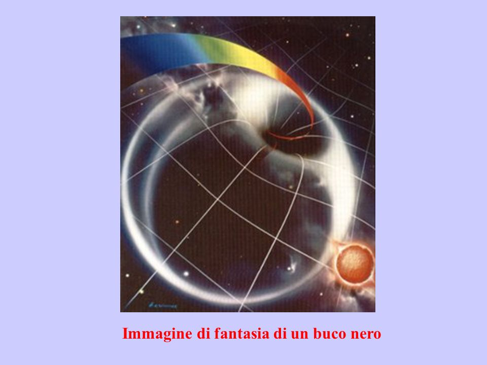 Immagine di fantasia di un buco nero