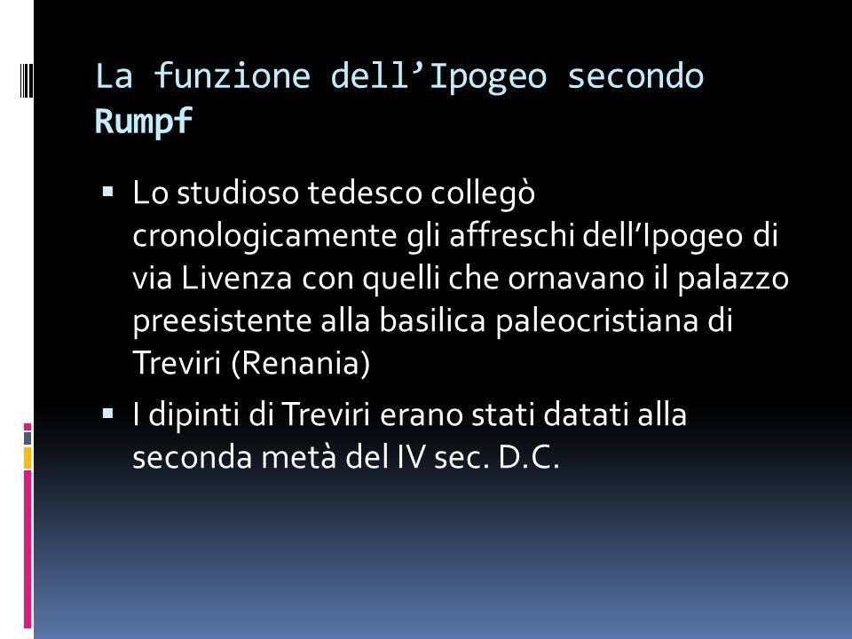La funzione dell'Ipogeo secondo Rumpf