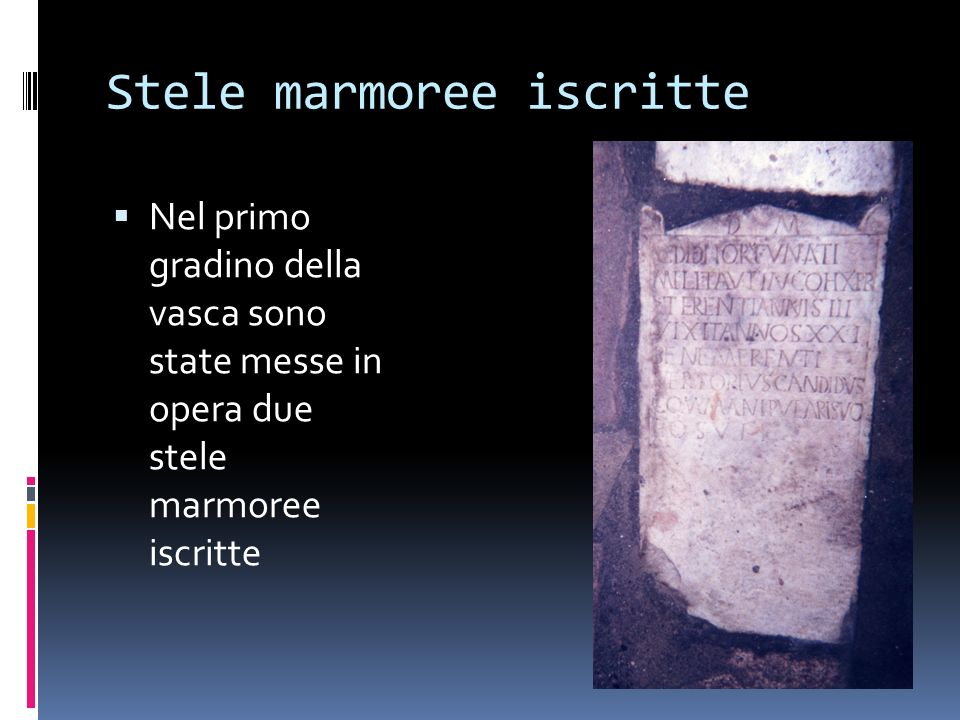 Stele marmoree iscritte