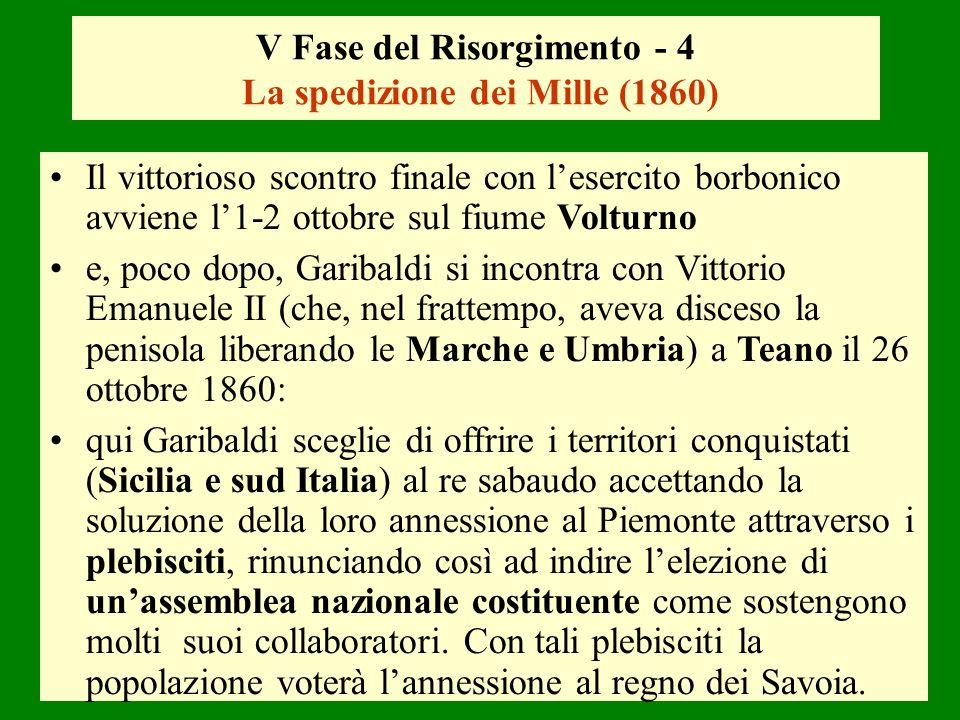 V Fase del Risorgimento - 4 La spedizione dei Mille (1860)