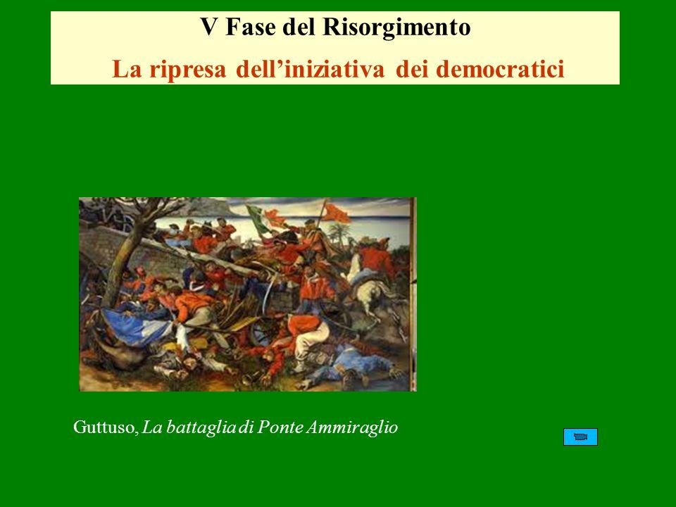 V Fase del Risorgimento La ripresa dell'iniziativa dei democratici