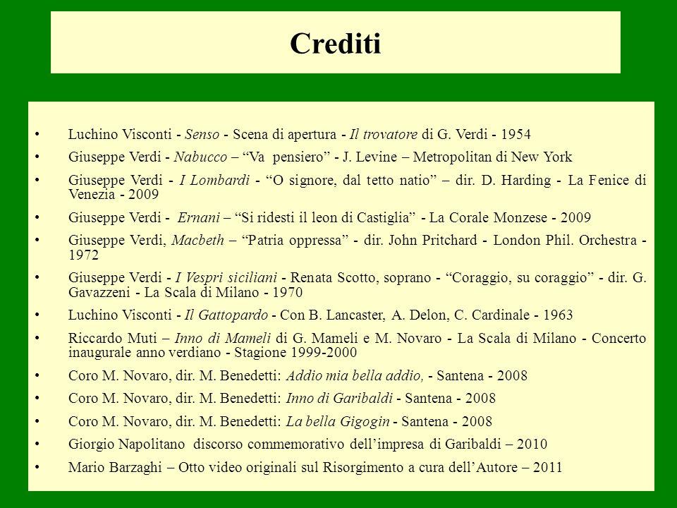 Crediti Luchino Visconti - Senso - Scena di apertura - Il trovatore di G. Verdi - 1954.