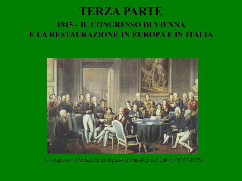 1815 - IL CONGRESSO DI VIENNA E LA RESTAURAZIONE IN EUROPA E IN ITALIA