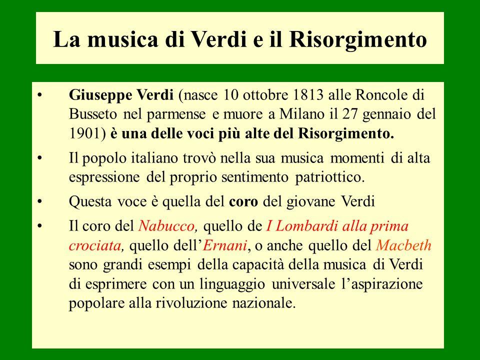La musica di Verdi e il Risorgimento