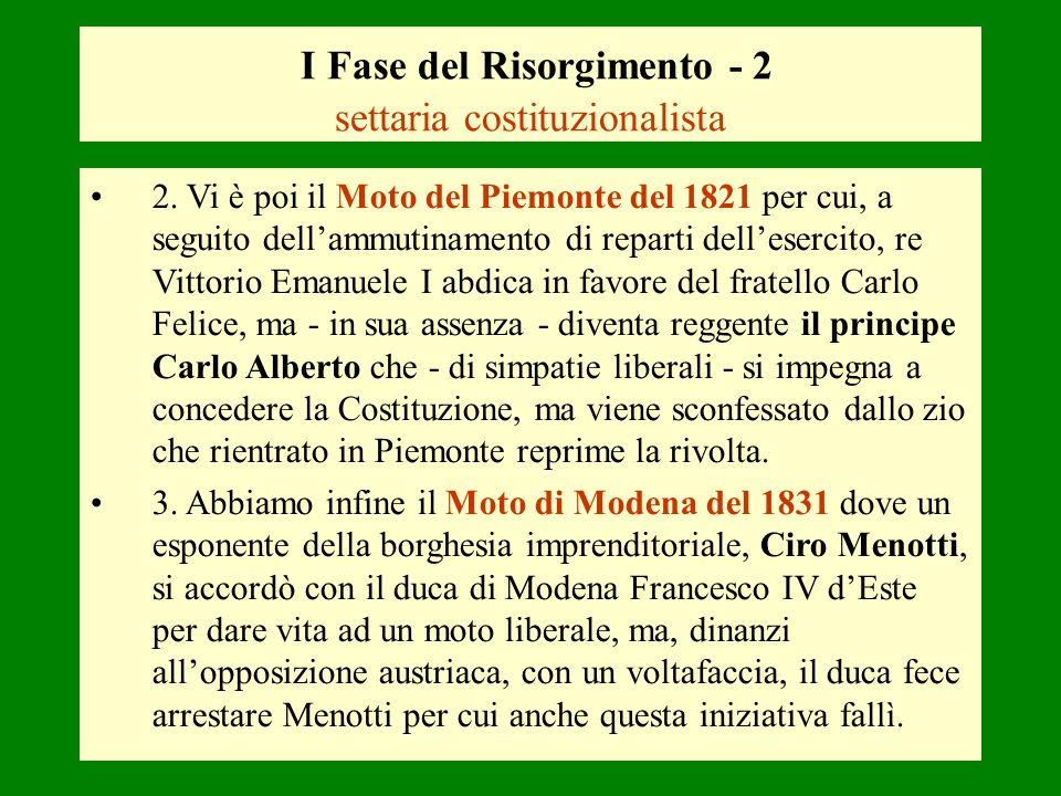 I Fase del Risorgimento - 2