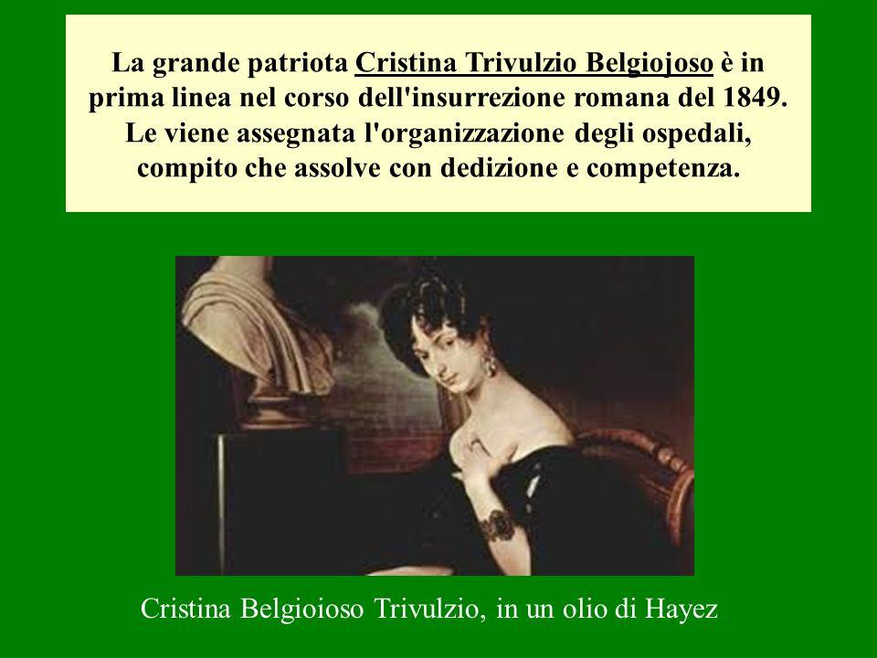 Cristina Belgioioso Trivulzio, in un olio di Hayez