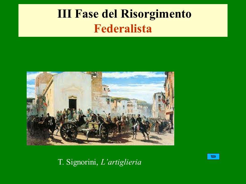 III Fase del Risorgimento Federalista