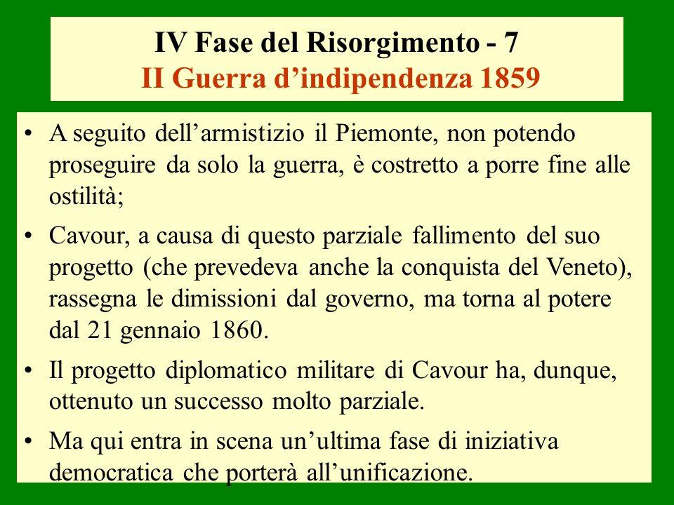 IV Fase del Risorgimento - 7 II Guerra d'indipendenza 1859