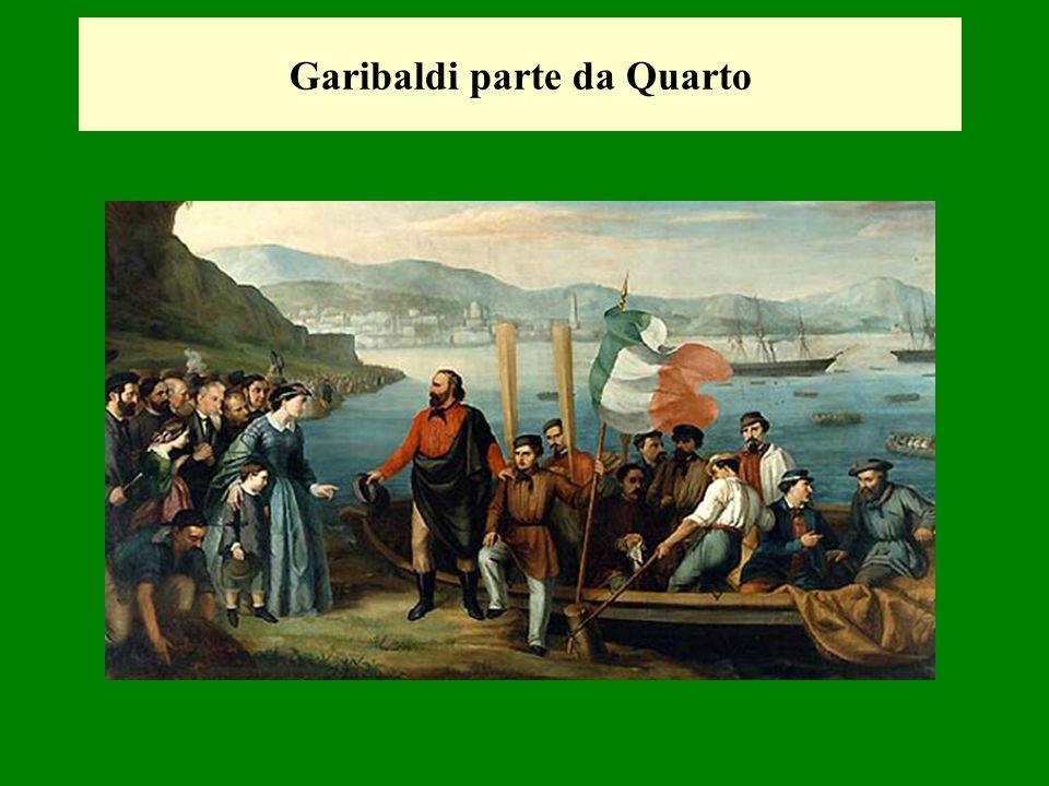 Garibaldi parte da Quarto
