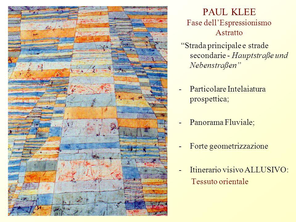 PAUL KLEE Fase dell'Espressionismo Astratto