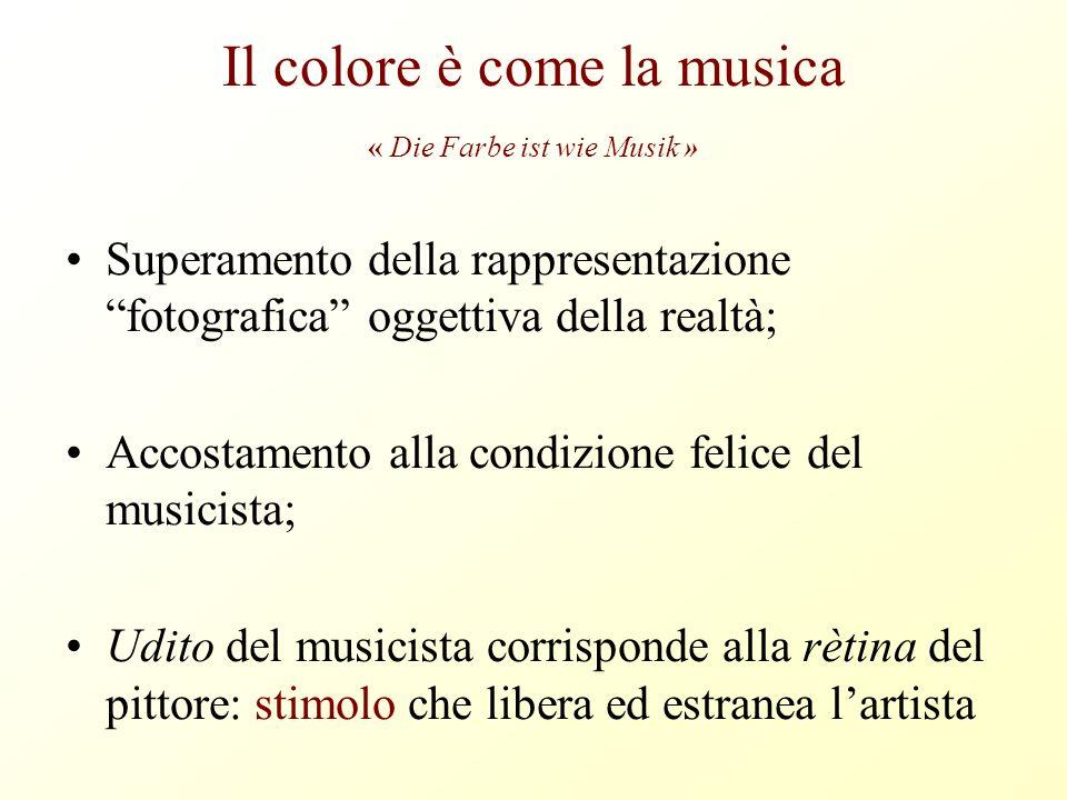 Il colore è come la musica « Die Farbe ist wie Musik »