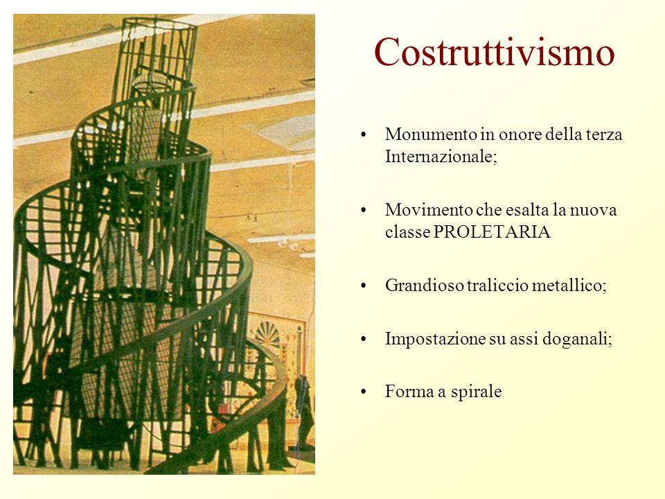 Costruttivismo Monumento in onore della terza Internazionale;
