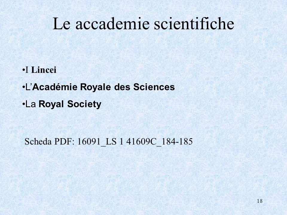 Le accademie scientifiche