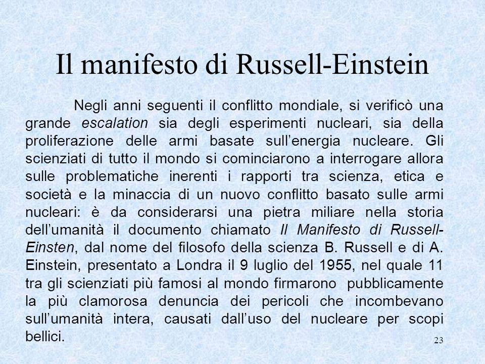 Il manifesto di Russell-Einstein
