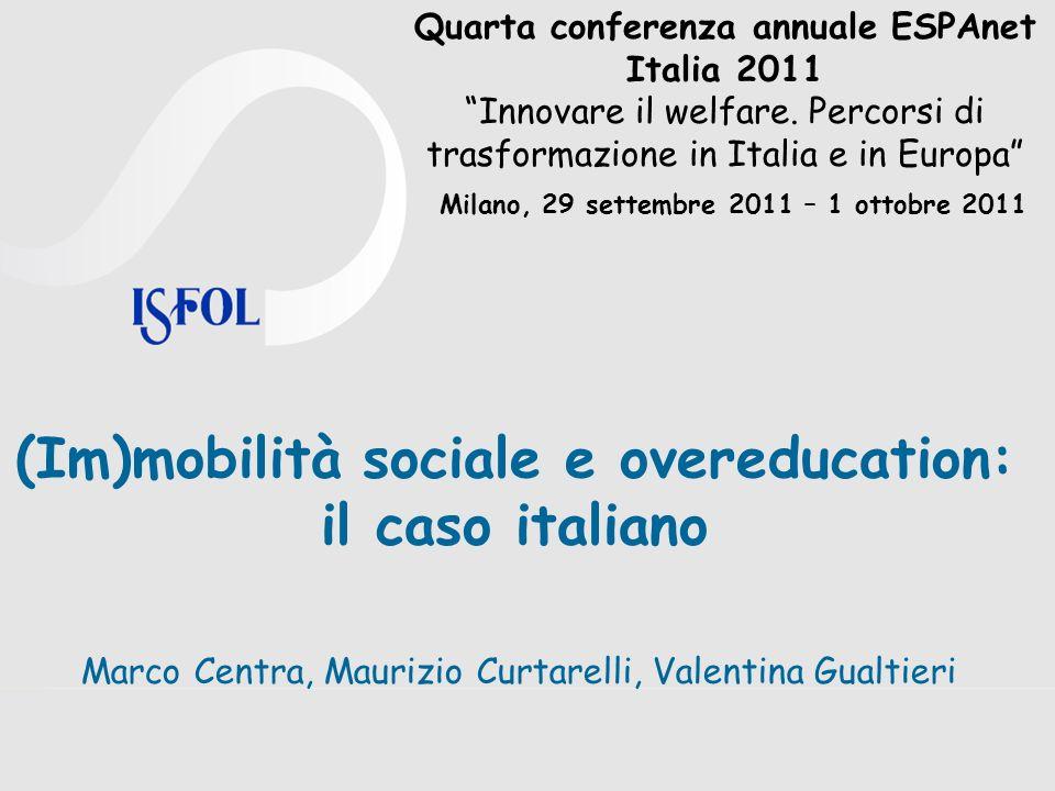 (Im)mobilità sociale e overeducation: il caso italiano