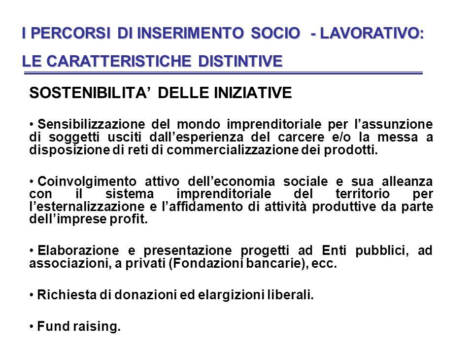 I PERCORSI DI INSERIMENTO SOCIO - LAVORATIVO: