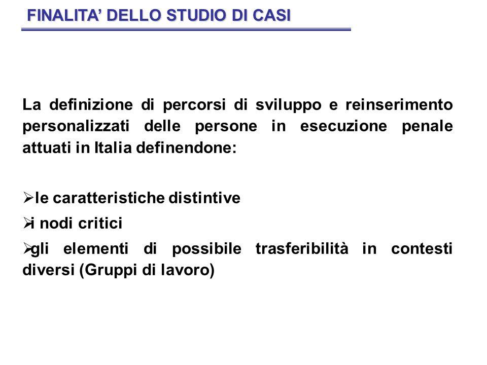 FINALITA' DELLO STUDIO DI CASI