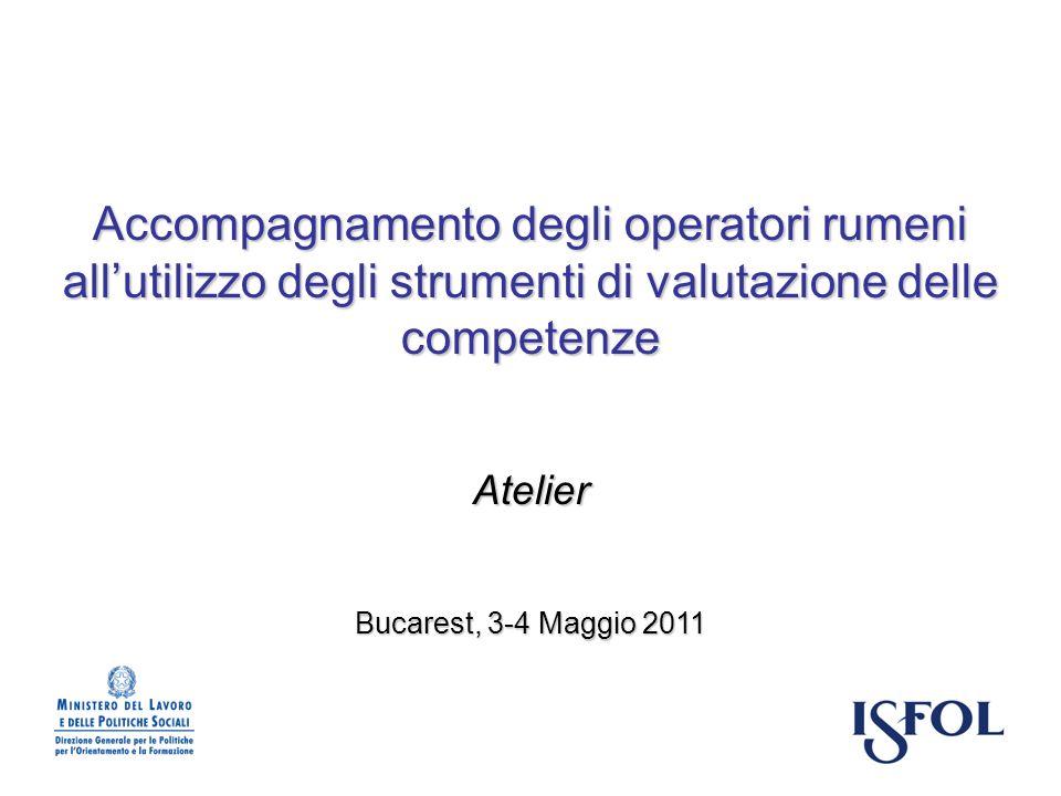 Accompagnamento degli operatori rumeni all'utilizzo degli strumenti di valutazione delle competenze