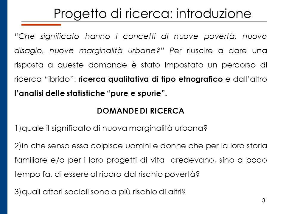 Progetto di ricerca: introduzione