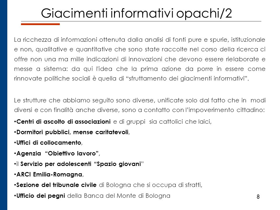 Giacimenti informativi opachi/2