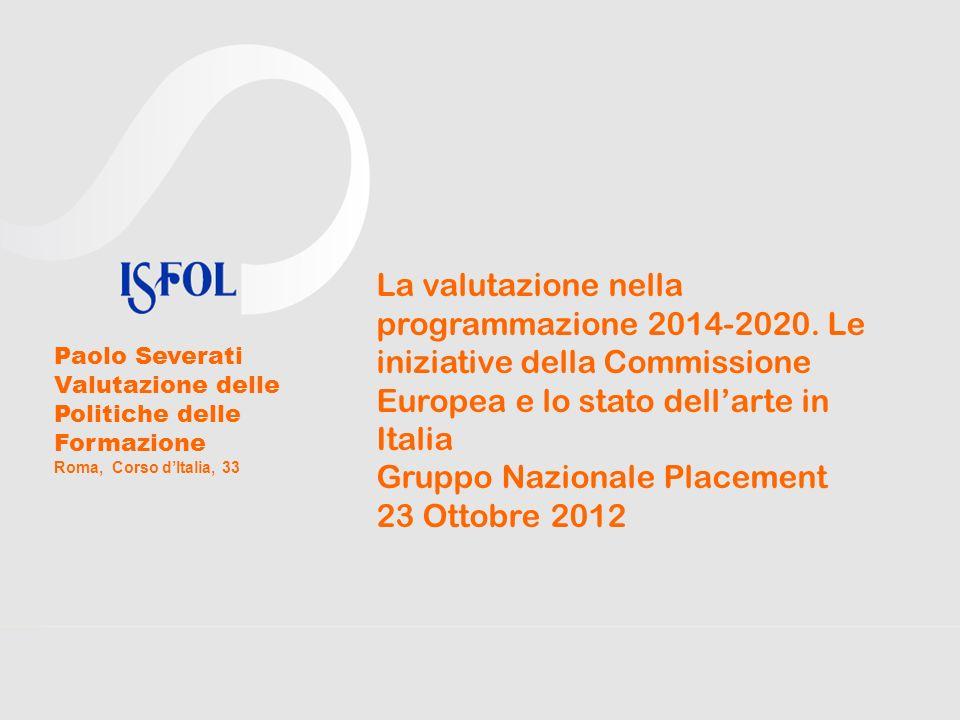 Gruppo Nazionale Placement 23 Ottobre 2012