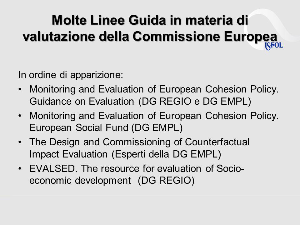 Molte Linee Guida in materia di valutazione della Commissione Europea