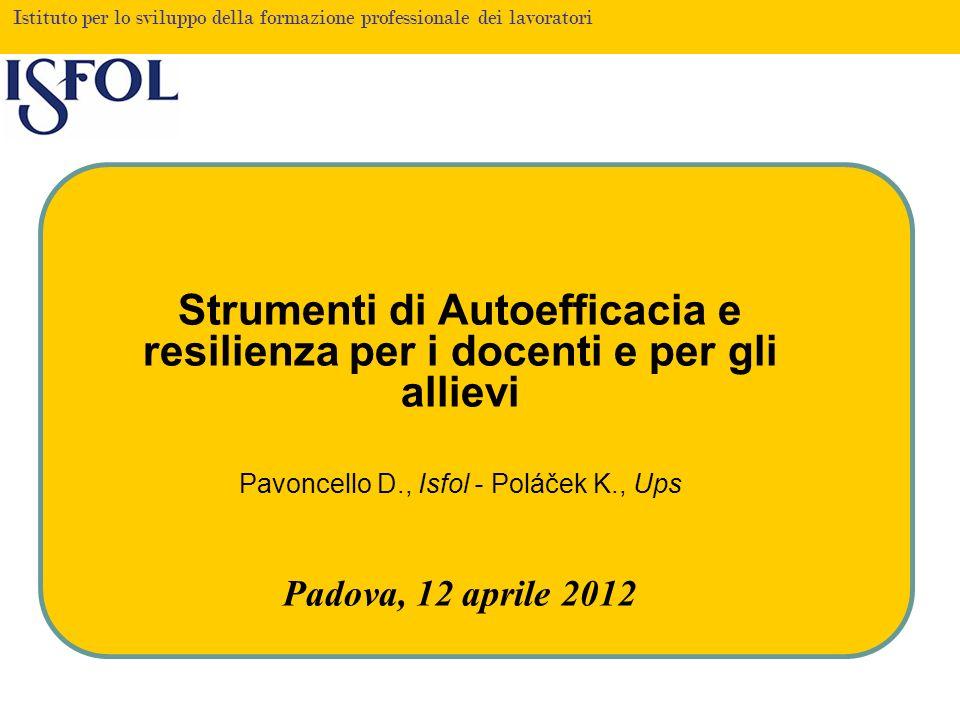 Pavoncello D., Isfol - Poláček K., Ups