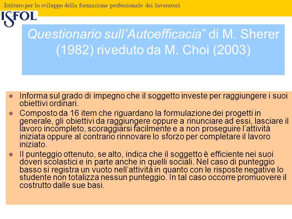 Questionario sull'Autoefficacia di M. Sherer (1982) riveduto da M