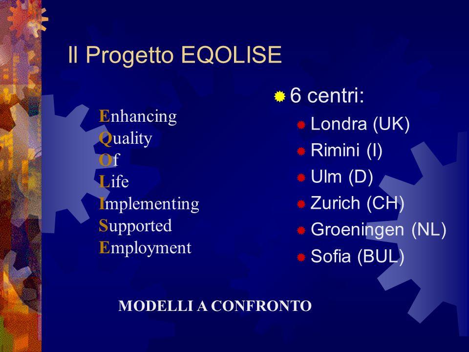 Il Progetto EQOLISE 6 centri: Londra (UK) Rimini (I) Ulm (D)