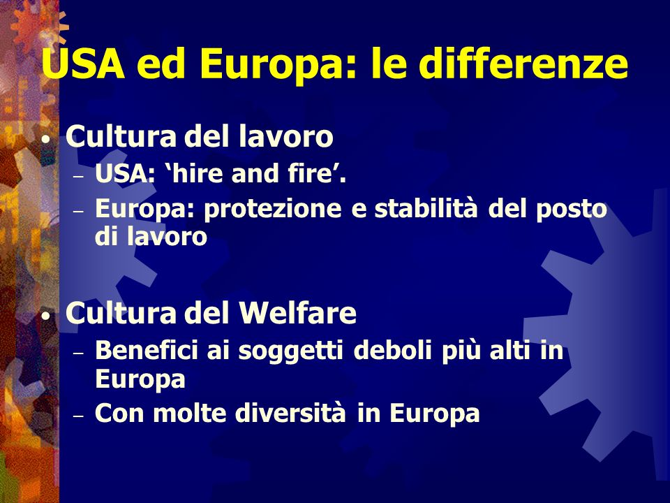 USA ed Europa: le differenze