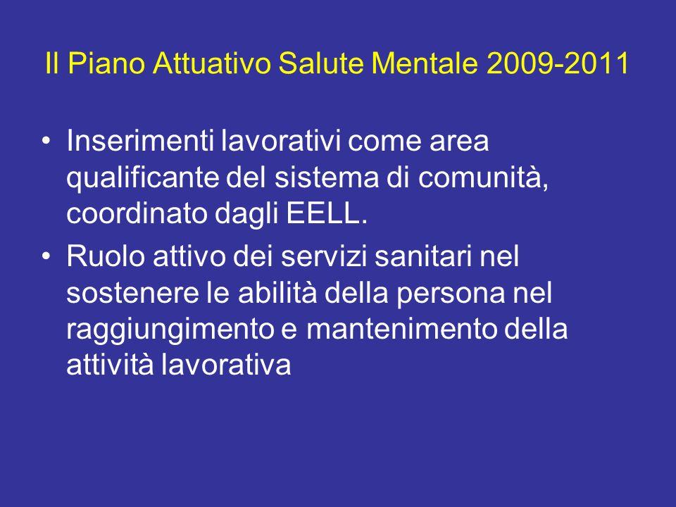 Il Piano Attuativo Salute Mentale 2009-2011